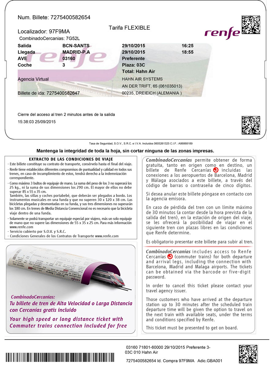 152 Hahn Air rail Check in pdf for Renfe 2