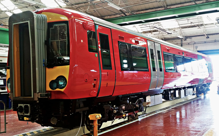 First carriage of brand new Gatwick Express Class 387 2 fleet built web