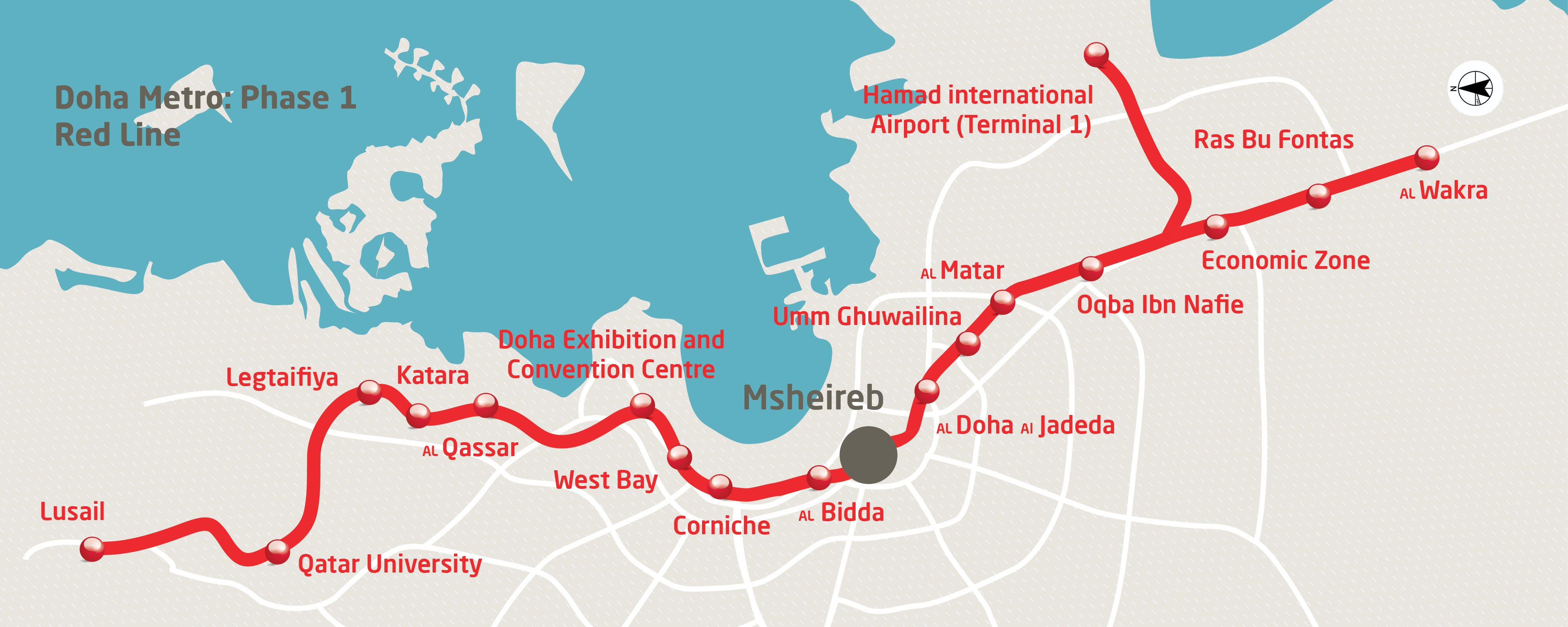 hamad international airport route map Hamad International Airport Launches Inter Terminal Passenger hamad international airport route map