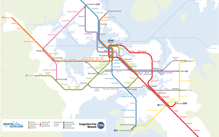 Transport Plan for Auckland envisions core light rail link to the
