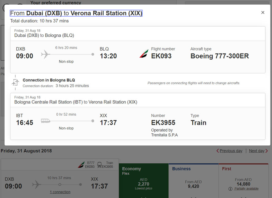 Emirates Signs Codeshare Agreement With Trenitalia News