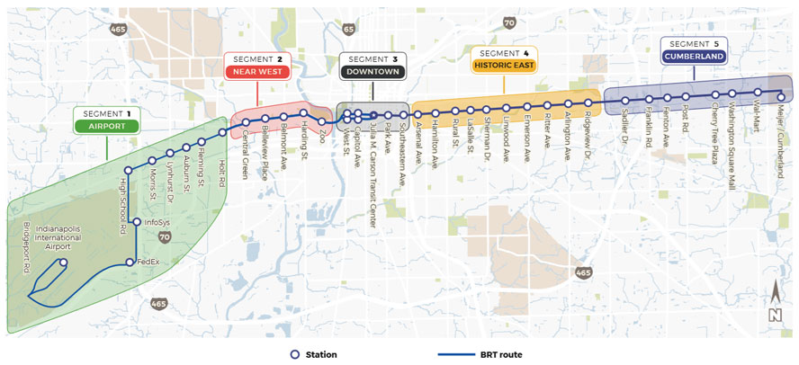 FTA Blue Line Map web