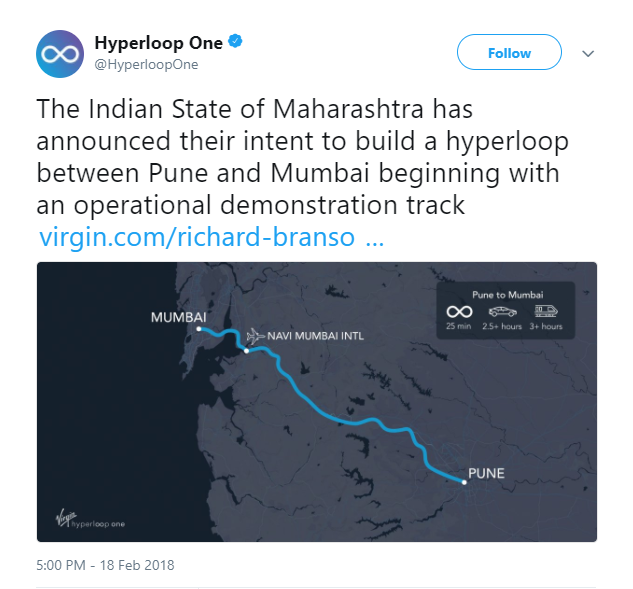 Hyperloop mumbai pune
