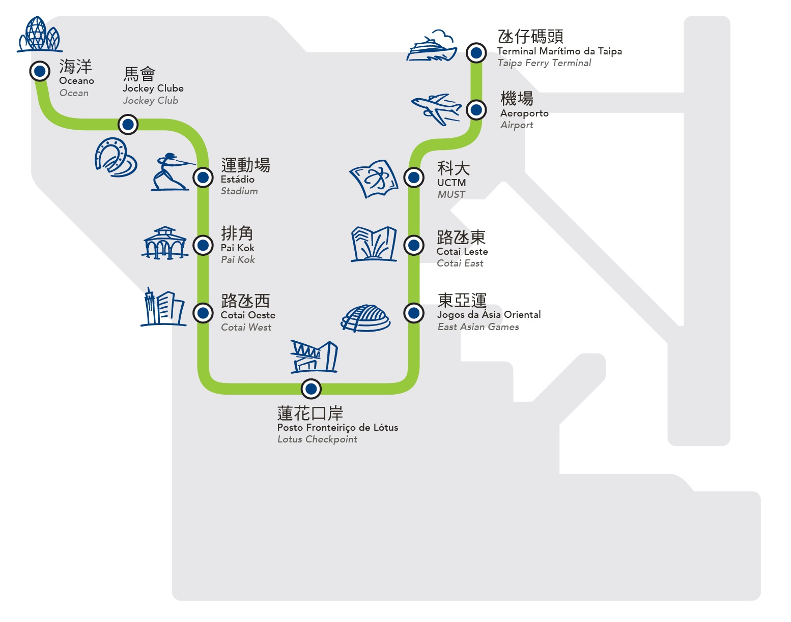 Macau LRT Route Map
