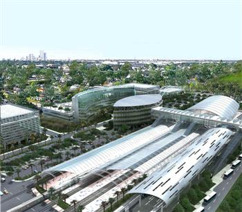 Construction For Rail Link To Miami International Airport